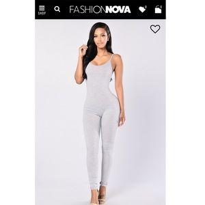 NWOT Fashion Nova Jumpsuit in color Heather Grey
